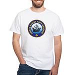 Masonic Naval Reserves White T-Shirt