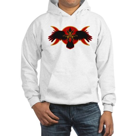 Crow Triple Goddess - Red Hooded Sweatshirt