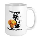 Halloween Black Cat Large Mug