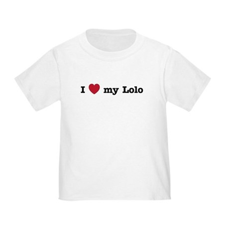 I Love My Lolo Toddler T-Shirt