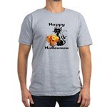 Halloween Black Cat Men's Fitted T-Shirt (dark)