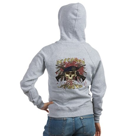 Security Forces Skull Rifles Women's Zip Hoodie