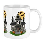 Halloween Haunted House Ghosts Mug