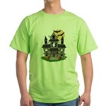 Halloween Haunted House Ghosts Green T-Shirt