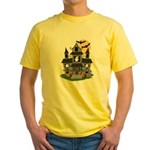 Halloween Haunted House Ghosts Yellow T-Shirt