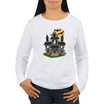 Halloween Haunted House Ghosts Women's Long Sleeve