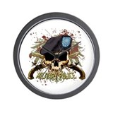 MP Skull Pistols Urban Color Wall Clock