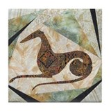 Tribal Greyhound Tile Coaster