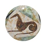 Tribal Greyhound Ornament (Round)