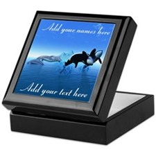Dolphins and Orca's Keepsake Box