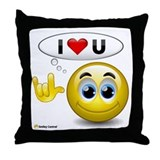 I Love You - Sign Language Throw Pillow