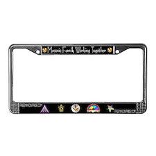 Masonic Groups License Plate Frame