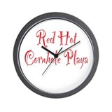 Red Hot Cornhole Playa Wall Clock