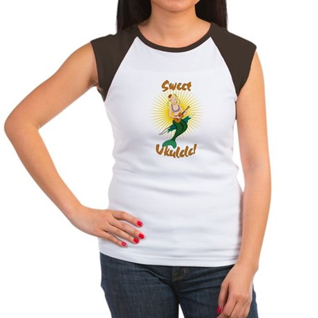 Ukulele Mermaid Women's Cap Sleeve T-Shirt