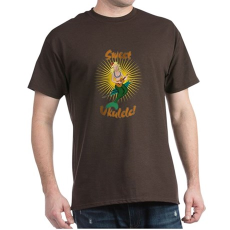 Ukulele Mermaid Dark T-Shirt