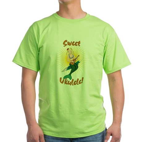 Ukulele Mermaid Green T-Shirt