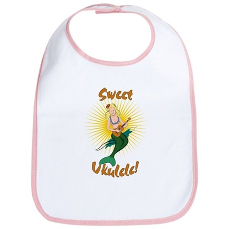 Ukulele Mermaid Bib