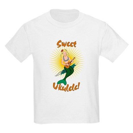Ukulele Mermaid Kids Light T-Shirt