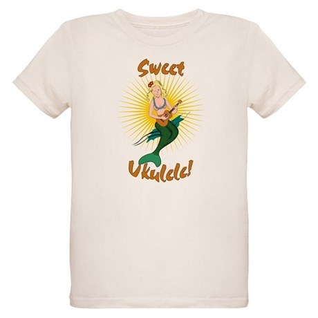 Ukulele Mermaid Organic Kids T-Shirt