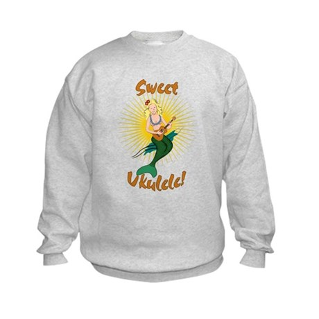 Ukulele Mermaid Kids Sweatshirt