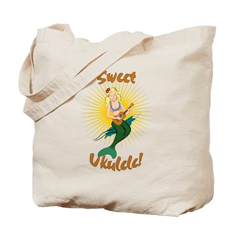 Ukulele Mermaid Tote Bag
