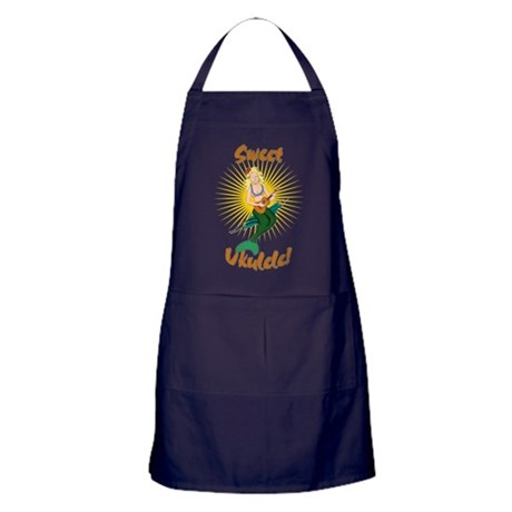 Ukulele Mermaid Apron (dark)
