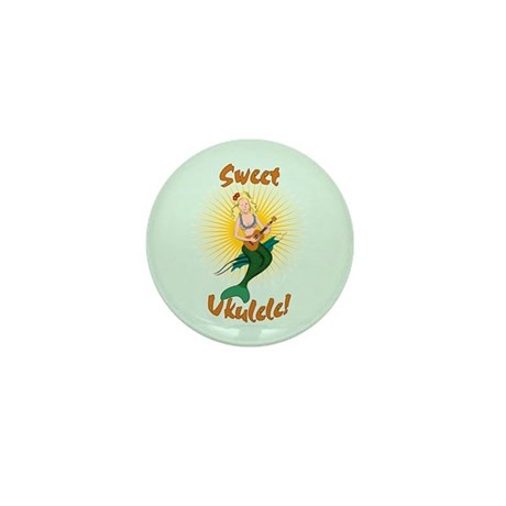 Ukulele Mermaid Mini Button