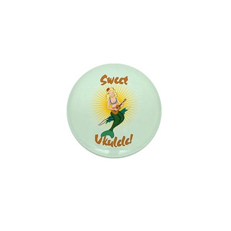 Ukulele Mermaid Mini Button (10 pack)