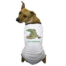Plays With Iguanas Dog T-Shirt