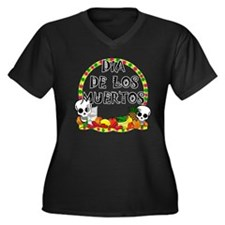 Cute Day of the dead Women's Plus Size V-Neck Dark T-Shirt
