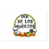 Funny Dia de los muertos Postcards (Package of 8)