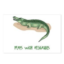 Plays With Alligators Postcards (Package of 8)