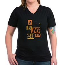 The Numbers Women's V-Neck Dark T-Shirt