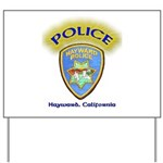 Hayward Police Yard Sign