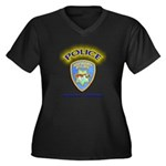 Hayward Police Women's Plus Size V-Neck Dark T-Shi