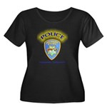 Hayward Police Women's Plus Size Scoop Neck Dark T