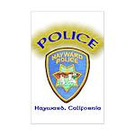 Hayward Police Mini Poster Print