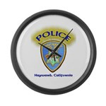 Hayward Police Large Wall Clock