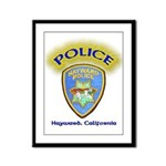 Hayward Police Framed Panel Print