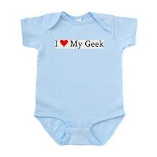 I Love My Geek Infant Creeper
