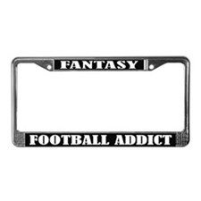Fantasy Football Addict License Plate Frame