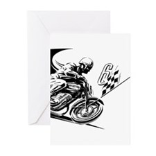 Vintage Motorcycle Racing Greeting Cards (Pk of 10