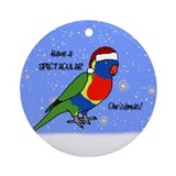 Santa Rainbow Lorikeet Ornament