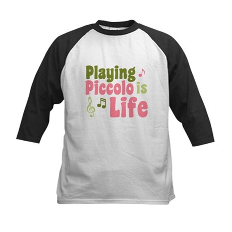 Playing Piccolo is Life Kids Baseball Jersey