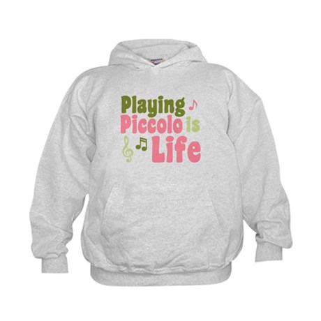 Playing Piccolo is Life Kids Hoodie