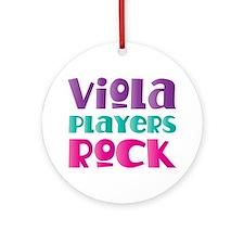 Viola Players Rock Ornament (Round)