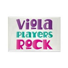 Viola Players Rock Rectangle Magnet