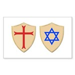 Zionist Crusader Sticker (Rectangle 10 pk)