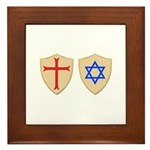 Zionist Crusader Framed Tile