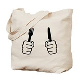 Eating - cutlery Tote Bag